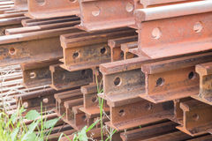 Rail. The material of the rail Royalty Free Stock Photography
