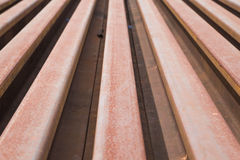 Rail. The material of the rail Stock Photography