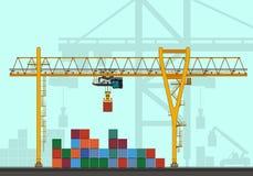 Rail mounted gantry crane Royalty Free Stock Photo
