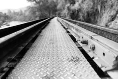 Rail nut. Railroad construction using nuts as a placeholder Royalty Free Stock Images