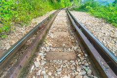Rail. Old railway in Thailand,Asia Stock Photos