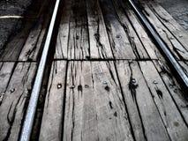 Rail. Old rail wood vinetage travel Stock Photo