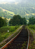 Rail path in the mountains on a background of mountain hills Royalty Free Stock Photography
