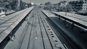 Rail and platform roofs Stock Photos