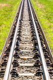 Rail profile in straight direction Royalty Free Stock Photography
