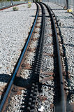 Rail rack railway Stock Photos