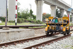 Rail Repair truck Stock Photo