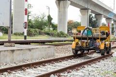 Rail Repair truck Stock Photo