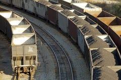Rail road Appalachia. Rail transportation of coal. Appalachia stock photo