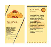 Rail Road Banners Royalty Free Stock Photos
