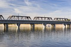 Rail Road Bridge, Tempe, AZ Stock Photography