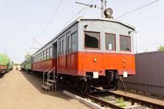 Rail road coach. Photo of the Russian rail road coach Stock Photography