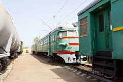 Rail road coach. Photo of the Russian rail road coach Stock Image