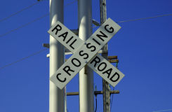 Rail Road Crossing royalty free stock images