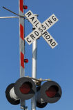 Rail road crossing Stock Photos