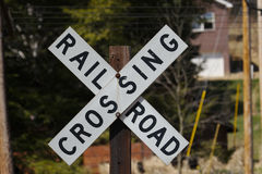 Rail Road Crossing Stock Photo