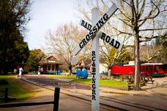 Rail road crossing Royalty Free Stock Photos