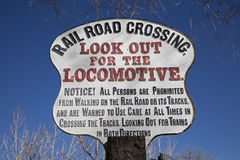 Rail Road Crossing Sign Stock Photos