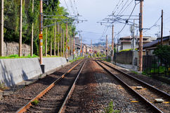 Rail road in Japan Royalty Free Stock Image