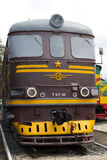 Rail road locomotive. Image of Russian rail road locomotive royalty free stock photo