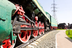 Rail road locomotive Royalty Free Stock Photos