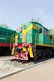 Rail road locomotive. Photo of Russian rail road locomotive in Samara Stock Images