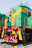 Rail road locomotive. Photo of Russian rail road locomotive in Samara Royalty Free Stock Photo