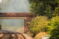 Rail road railway tracks. Royalty Free Stock Image