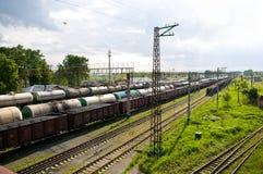 Rail road station Stock Image