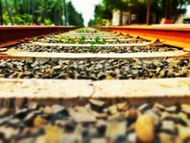 Rail road track stock image