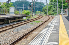 Rail Road Track. (Railway) in Japan stock photos