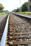 Rail Road tracks. Going through goshen Indiana royalty free stock photo