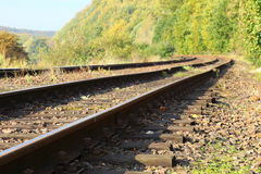 Rail Road Tracks Royalty Free Stock Images