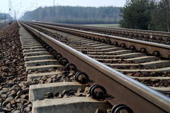 Rail Road Tracks - electrical Royalty Free Stock Photos