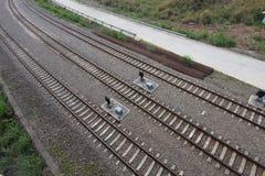 Rail Road Tracks Royalty Free Stock Photography