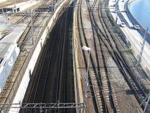 Rail road tracks Stock Photo
