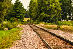 Rail Road Tracks to Somewhere Royalty Free Stock Images