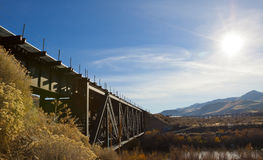 Rail Road Train Bridge Royalty Free Stock Images