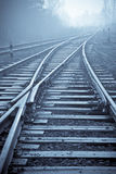 Rail road. Vanishing point. Royalty Free Stock Photo