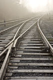 Rail road. Vanishing point. Royalty Free Stock Photography