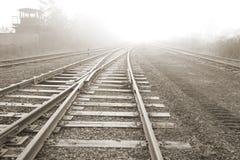 Rail road. Vanishing point. Stock Photography