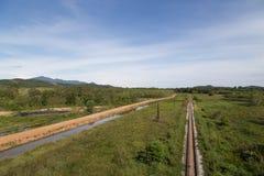 Rail road way in yala, thailand Royalty Free Stock Photos