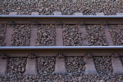 Rail and rocks Royalty Free Stock Images