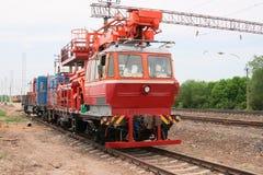 Rail service vehicle_2. Rail service vehicle repair power equipment_2 Royalty Free Stock Photos