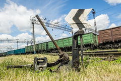 A rail shooter, top view, Russia Stock Photography