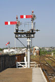 Rail Signal. An old fashion semophore rail signal in St Erth station Royalty Free Stock Image