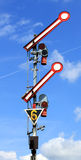 Rail signal. Stop signal for the railroad Stock Image