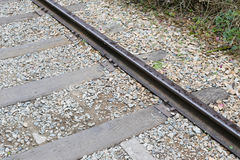 Rail and sleeper Royalty Free Stock Images