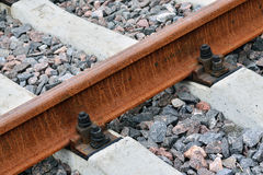 Rail and sleepers Royalty Free Stock Photography