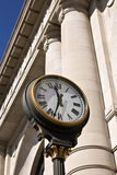 Rail Station Clock. Old clock outside Union Station in Kansas City Royalty Free Stock Photo